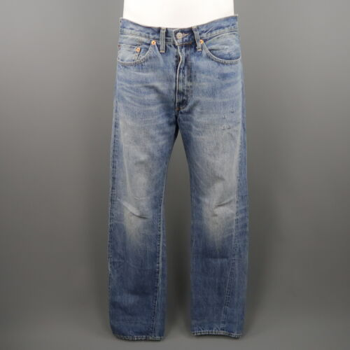 CapitalBlue maat 34 Xx jeanse Levi's 501z denim Selvedge Washed v8nOmwN0