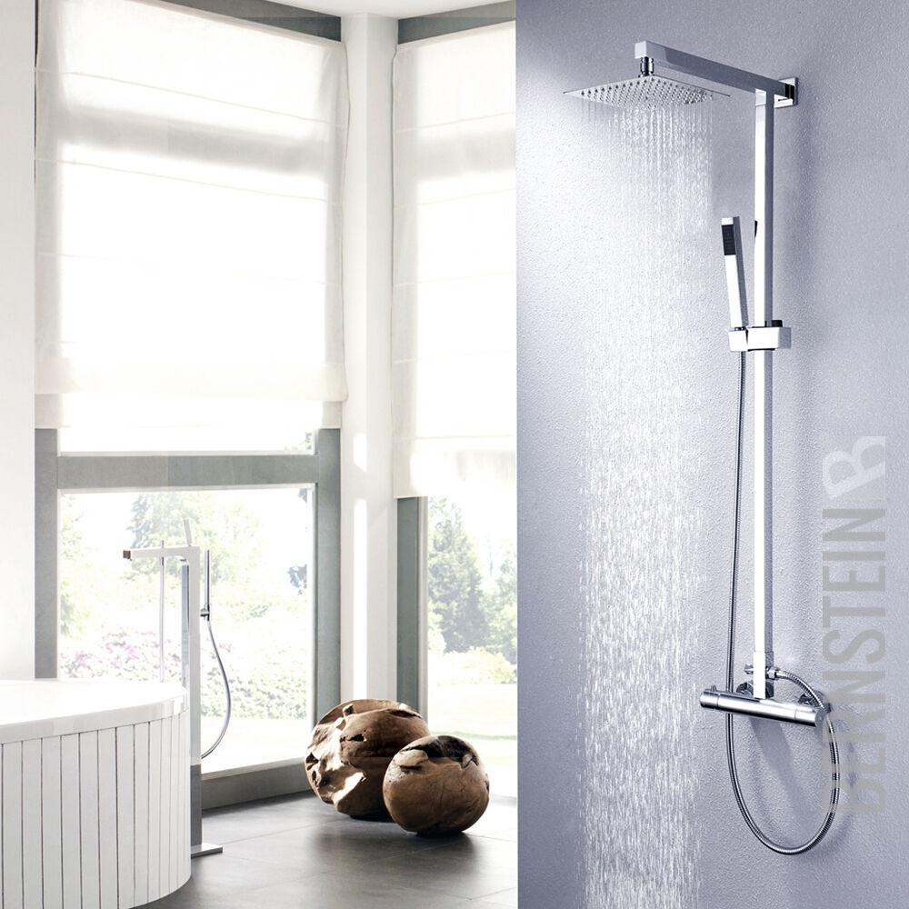 Design Duschset Regendusche Brause Set Duschsäule Duscharmatur Thermostat NEU