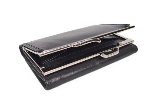 Damen Lederbörse Geldbörse Portmonee Geldbeutel Brieftasche Rot Schwarz NEU