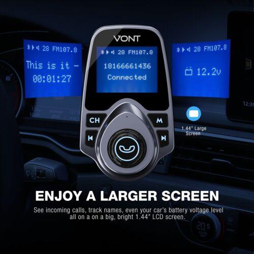 Portable Audio Transmitters VONT Bluetooth Car FM Transmitter ...