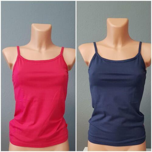 Damen Mädchen Top rot blau 2er Set Mädchentops Shirt 2 Stück 146-182
