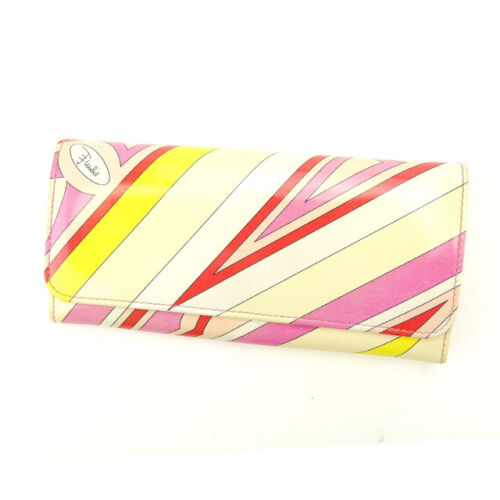 Emilio Pucci Wallet Purse Long Wallet Woman Authen