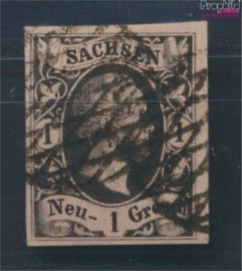 Sachsen-4I-Pracht-gestempelt-1851-Friedrich-August-8162004