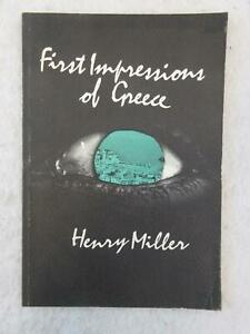 Henry-Miller-FIRST-IMPRESSIONS-OF-GREECE-Capra-Press-1973