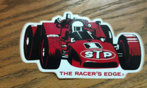 STP, VERY RARE, THE RACER'S EDGE, STICKER, 5-1/2  x  3
