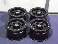 12 Polaris Ranger Beadlock Black Atv Wheels Set 4 - Lifetime Warranty