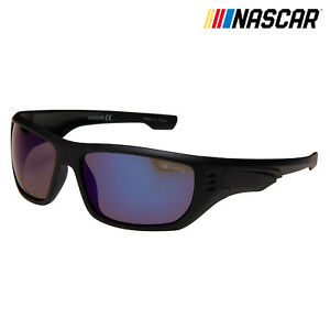 eafa5d66d0a Image is loading NASCAR-Sunglasses-Slipstream-Polarized -Matte-Black-Silver-Crystal