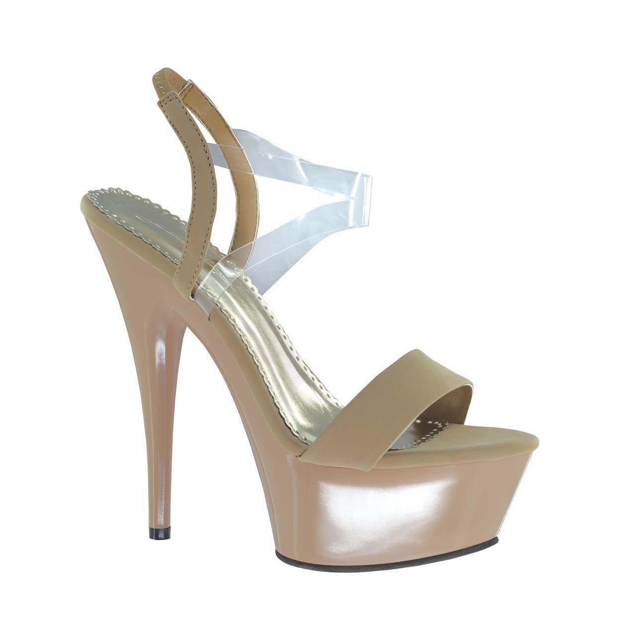 NEW Johnathan Kayne& 039;s Suntan Vinyl Taupe Heel, Prom, Pageant Sandals