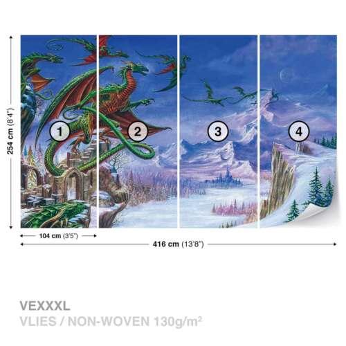 2372WS WALL MURAL PHOTO WALLPAPER XXL Dragon