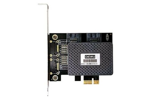 diewu 6Gbps PCI Express PCIE pci-e to 2 Port SATA 3.0 Ports Expansion Controller