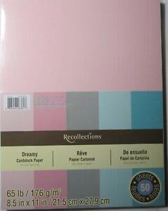 Recollections-Cardstock-Carta-8-1-5-1cm-x-27-9cm-50-Fogli-29-5kg-5-Color-Dreamy