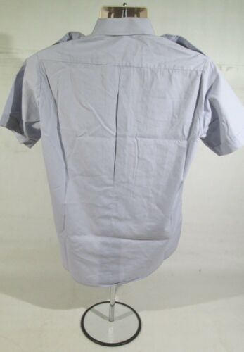 Ex Police Light Blue Short Or Long Sleeved Shirt With Centre Button Fastening