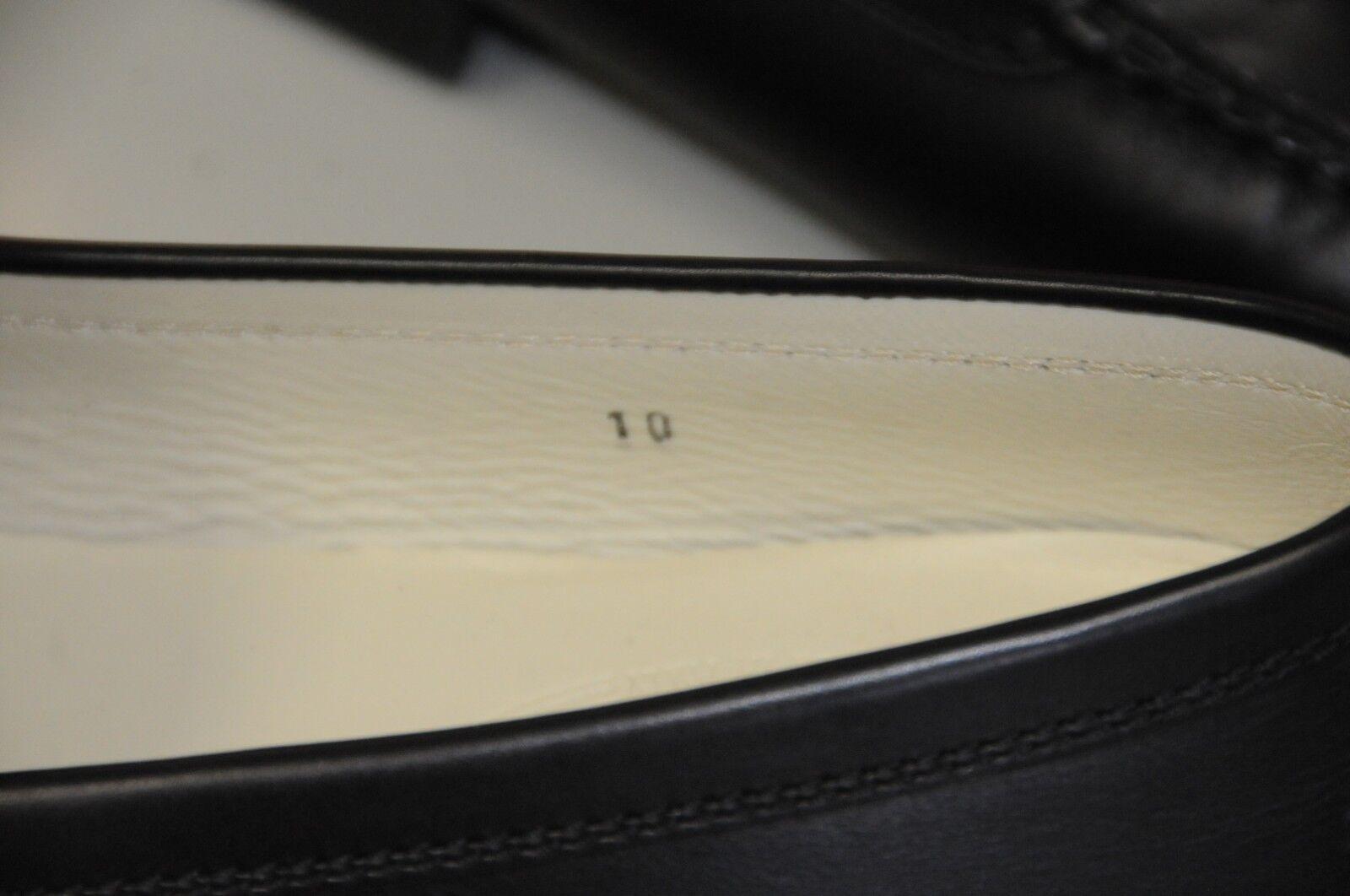 Neuf TOD'S TOD'S TOD'S Tods Plats Mocassins de Conduite Noir Chaussures en Cuir A Enfiler 10 eff2a2