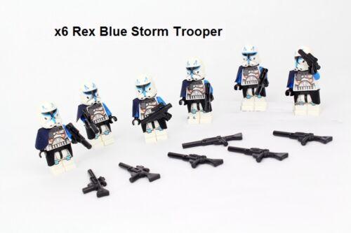 x6 Star Wars Blue Rex Imperial Storm Trooper Mini Figure Block force awaken