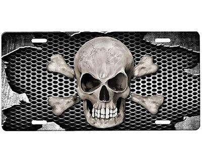 Skull License Plate