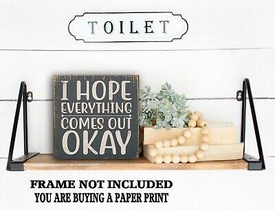 3D Bathroom Sign Funny Quote Farmhouse Framed Sign Laser Cut Lettering Sign