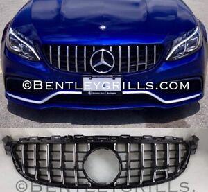 Mercedes-C-Klasse-W205-C63-AMG-Grill-NUR-FUR-DIE-C63-AMG-SCHWARZ-CHROM-PAN