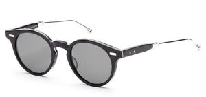 6890e510963 Authentic THOM BROWNE 806 A-BLK-SLV Folding Sunglasses Matte Black ...