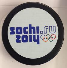 2014 SOCHI OLYMPIC HOCKEY PUCK USA RUSSIA CANADA SWEDEN FINLAND SLOVAKIA US00511