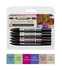Letraset Promarkers - 6 Marker Set - Limited Edition 2012 - New Autumn Colours