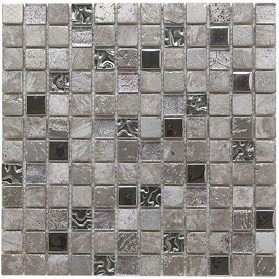 Platinum stone glass & metal mosaic tiles