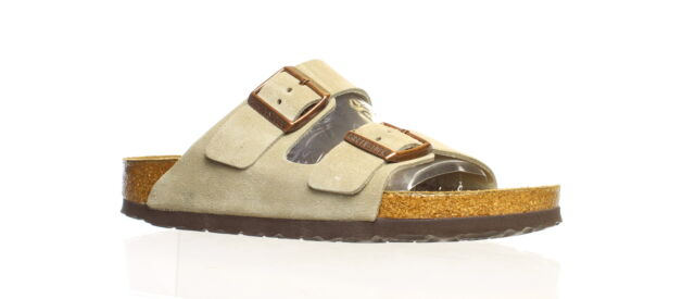 Birkenstock Womens Arizona Soft Footbed Taupe Sandals EUR 38 (Narrow) (1431047)