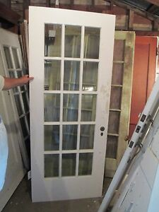 Exterior 15 pane glass door bevelled glass 32 x 83 ebay for 15 panel glass exterior door
