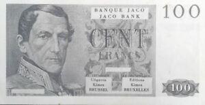 Billet-de-Banque-Jaco-pour-Jeu-de-Societe-de-100-Francs-Editions-KIMEX-Brussel