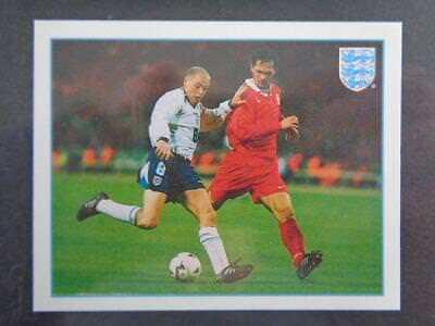 Merlin Premier League 97-Paul klađenje póster de equipo de Inglaterra #L