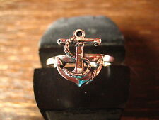 maritimer Herrenring Ring Anker für Piraten 925er Silber neu et Nox 19,7 mm G 62
