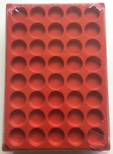 LOT 10 BOX COLLECTEURS DE RANGEMENT EN FEUTRINE POUR MUSELETS 40 CASES RONDES