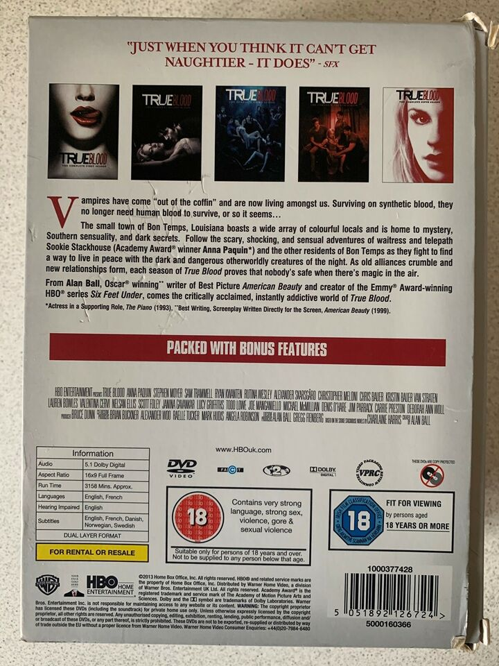 True blood, DVD, action