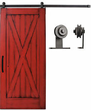 Sliding Cabinet/Barn Door Hardware Kit 6.6 feet Steel Track Top Mount Roller #ac