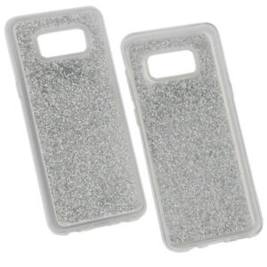Hybridcover-Glam-Silber-fur-Samsung-Galaxy-S8-S8-Plus-Case-Hulle-Cover