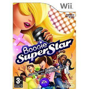 Nintendo-Wii-Spiel-Boogie-SuperStar-Super-Star-ohne-Mikro-NEU