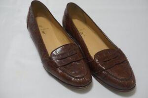Ralph Lauren Made in Italy Gator/Crocodile Womens Loafers Sz 7B