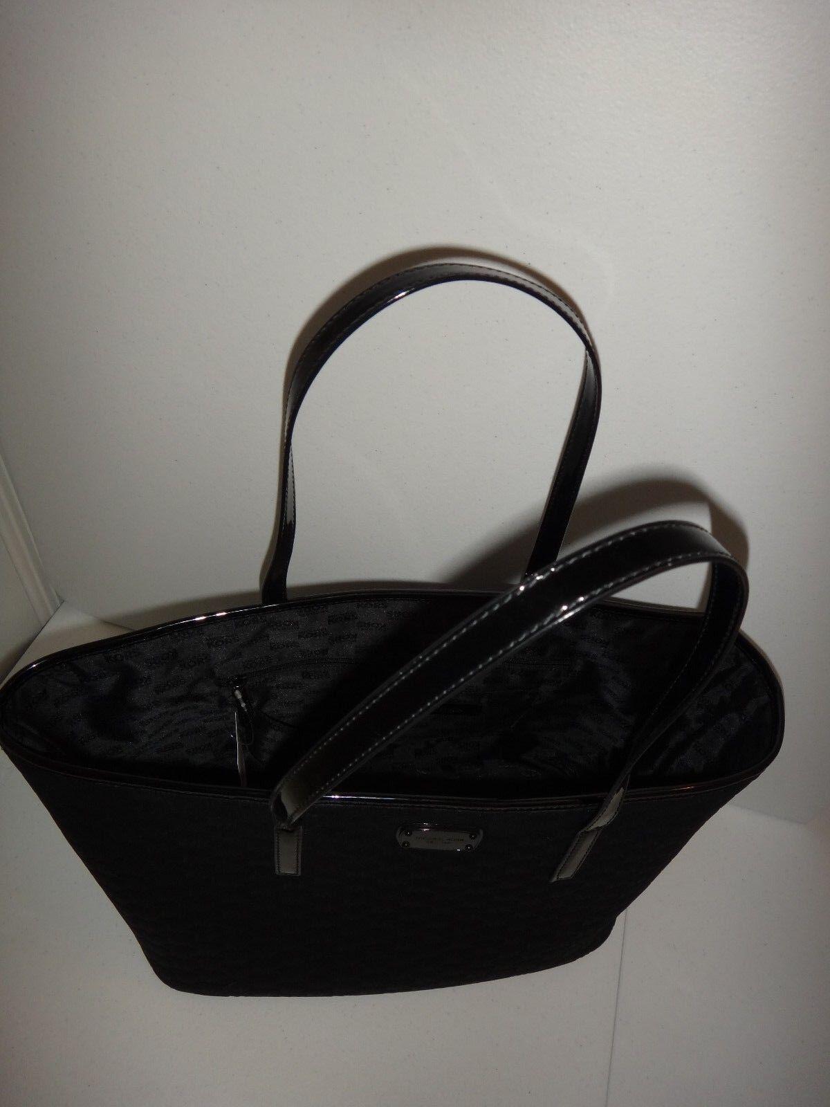d195b309c379 Michael Kors Women's Emry MK Signature LG TZ Tote Bag Black Neoprene  38S8CE4T3V for sale online | eBay