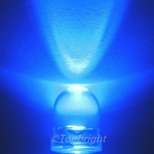 20 PCS 10mm 40° 1W Watt Blue LED 300mA 250,000mcd!NEW!
