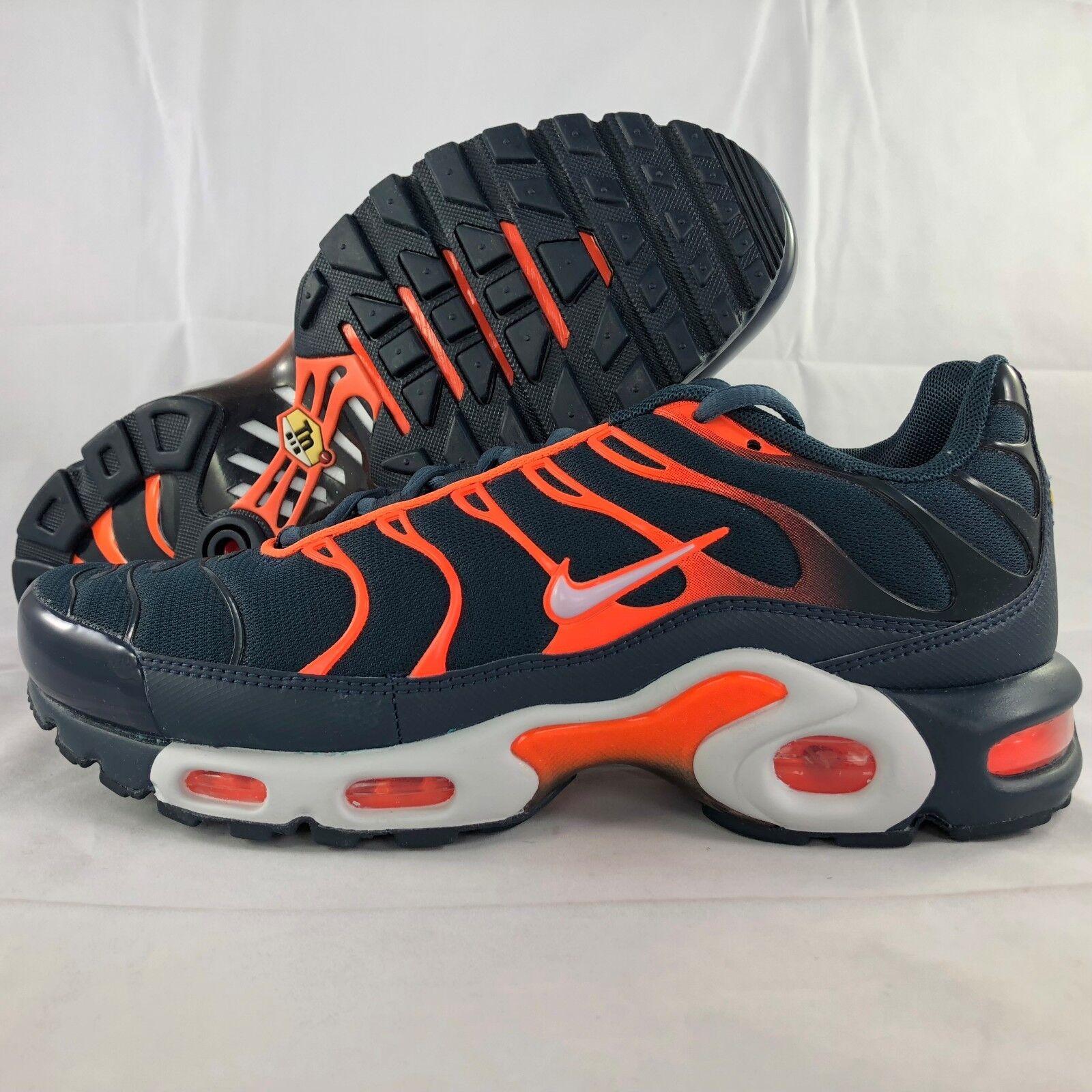 Nike Air Max Plus Navy bluee Pure Platinum orange White 852630-403 Men's 7.5-13
