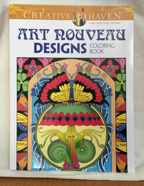 - Adult Coloring Book Art Nouveau Designs Great Christmas Gift For Sale  Online EBay