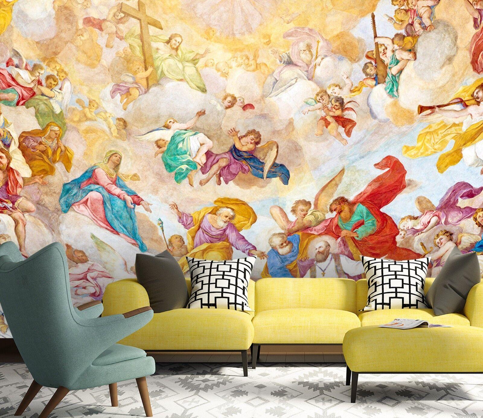 3D Farbige Kleidung Engel 7 Tapete Wandgemälde Tapete Tapeten Familie Kinde DE