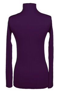 12Pc-Plain-Long-Sleeve-Mock-Neck-Seamless-Top-PURPLE