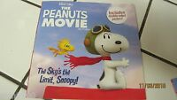 Peanuts Movie The Sky's The Limit Snoopy Book Comes With A Double Sided Poster