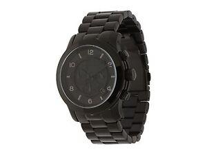 373e40c8ff44 Image is loading Michael-Kors-MK8157-Runway-Black-Chronograph-Wrist-Watch-