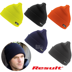 304bbea0485 Image is loading RESULT-WINTER-HAT-THINSULATE-INSULATION -RAINPROOF-WOOLY-SKI-