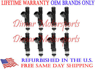 OEM Fuel Injector Set of 8 FBJC101 Lifetime Warranty
