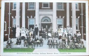 1920s-Franklin-IN-Postcard-Indiana-Masonic-Home-Entrance