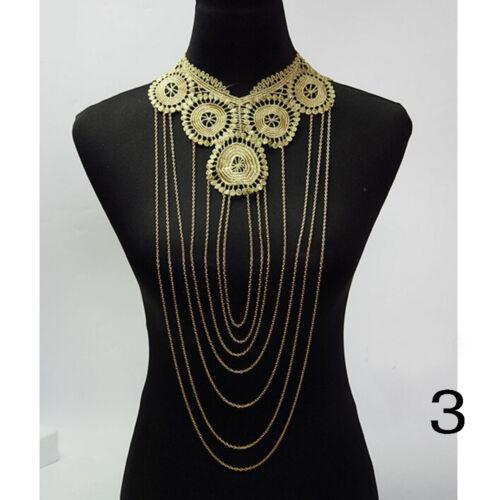 Harness Party Choker Shirt Pendant Collar Body Chain Necklace Jewelry Lace