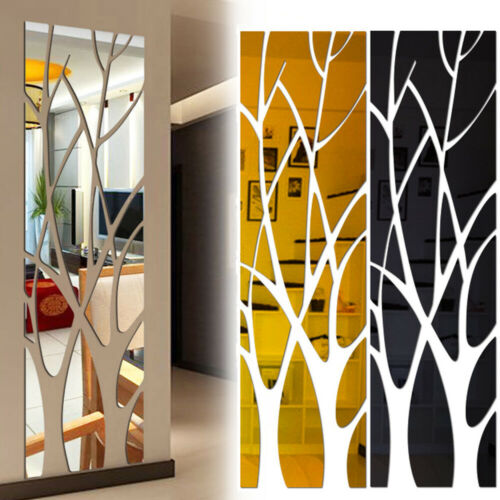 3D Tree Mirror Wall Sticker Removable DIY Art Decal Home Decor Mural Acrylic DIY