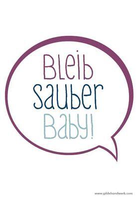 """GemäßIgt Hochwertiges Gilde Brillenputztuch, Lustig, 12x18cm """"bleib Sauber Baby"""" üBerlegene Leistung"""